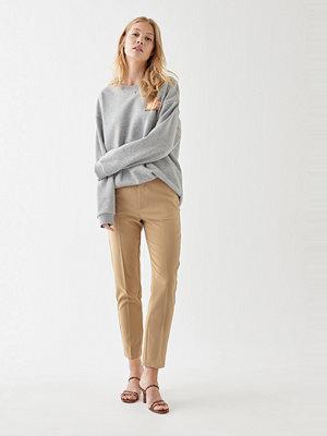 Gina Tricot beige byxor Karin slacks trousers