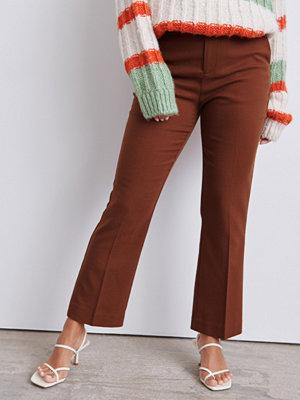 Gina Tricot mörkröda byxor Lisa trousers