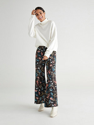 Gina Tricot mönstrade byxor Noomi satin trousers