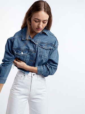 Gina Tricot Raw crop denim jacket