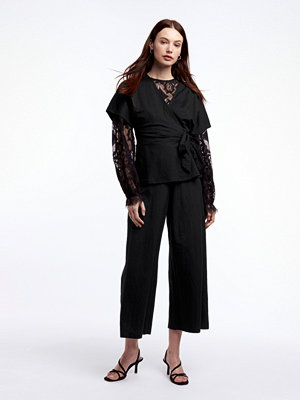 Gina Tricot svarta byxor Janike culotte trousers