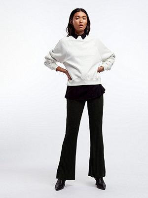 Gina Tricot svarta byxor Tara rib trousers