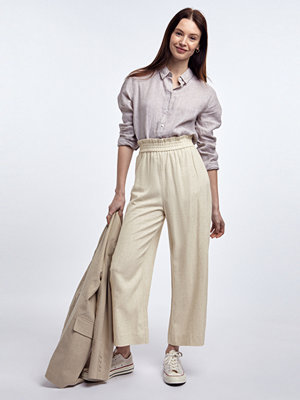 Gina Tricot omönstrade byxor Disa linen culotte trousers