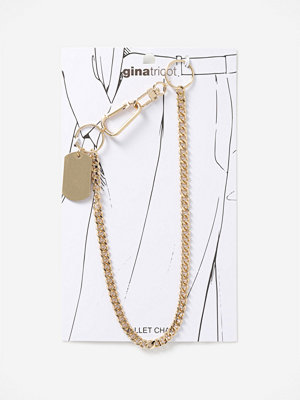Gina Tricot smycke GOLD TAG OPEN LINK WALLET CHAIN