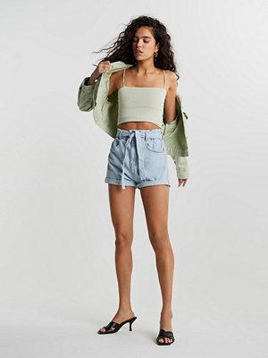 Gina Tricot Paperbag denim shorts