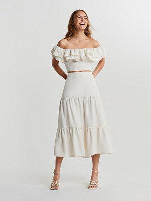 Kjolar - Gina Tricot Vanja linenmix skirt
