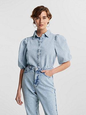 Gina Tricot Puff sleeve denim blouse