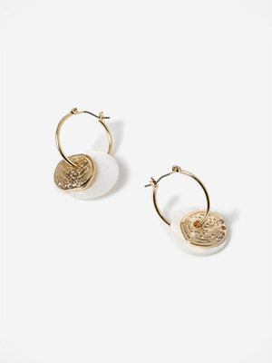 Gina Tricot örhängen Coin and Shell Hoop Earrings