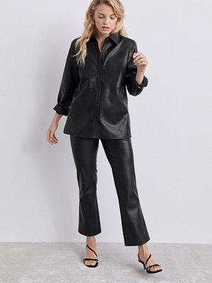 Gina Tricot svarta byxor Lisa PU trousers