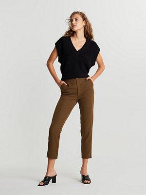 Gina Tricot bruna byxor Karin slacks trousers