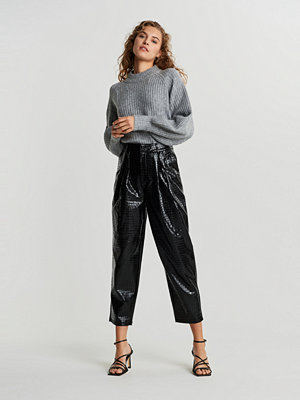 Gina Tricot svarta byxor Julie Croco trousers