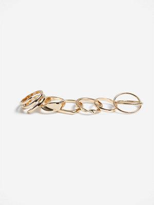 Gina Tricot GOLD METAL TWIST RING PK