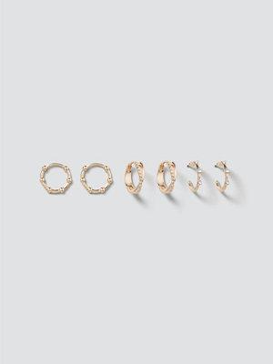 Gina Tricot örhängen Finer Gold Twist Hoop Pack