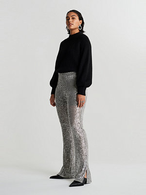 Gina Tricot grå byxor Sequin trousers