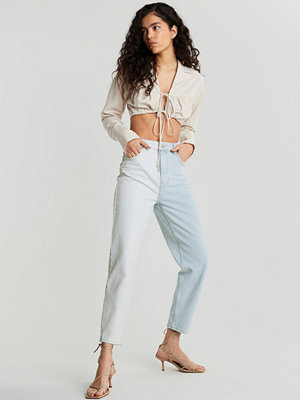 Gina Tricot Two-tone mom jeans