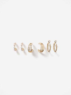 Gina Tricot örhängen Gold Pearl & Twist Earring Multi-pack