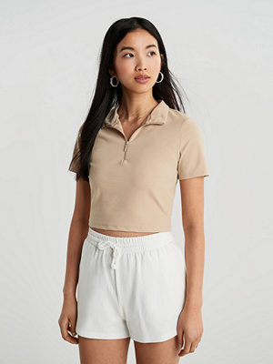 Gina Tricot Cassie cropped zip top