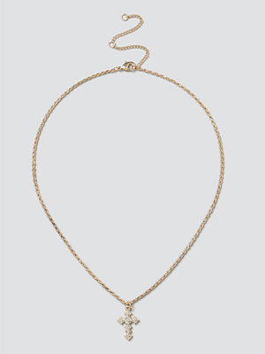 Gina Tricot halsband Gold Cross Ditsy Necklace