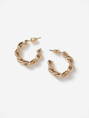 Gina Tricot örhängen Gold Twist Hoops