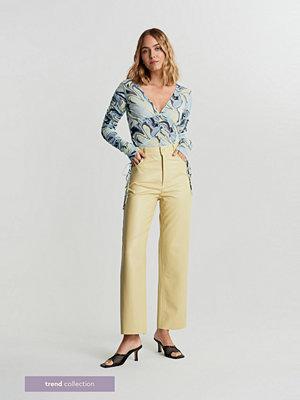 Gina Tricot gula byxor Adriana TREND trousers