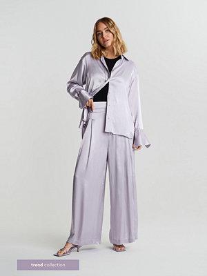 Gina Tricot ljusgrå byxor Gabi TREND trousers