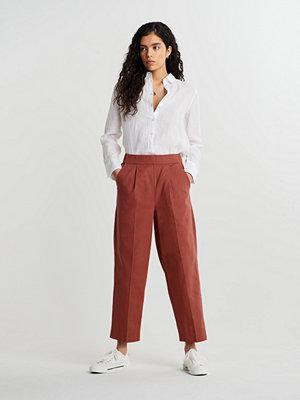 Gina Tricot mörkröda byxor Mili trousers