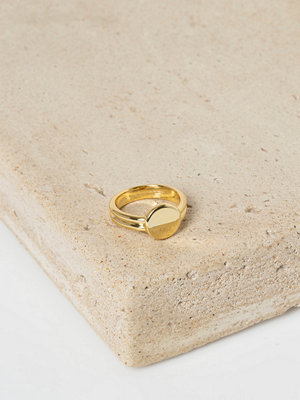 Gina Tricot Real Gold Plated Rounded Ring