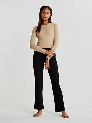 Gina Tricot svarta byxor Stina rib trousers