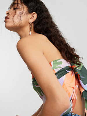 Gina Tricot örhängen Gold Chain & Pearl Drop Earrings