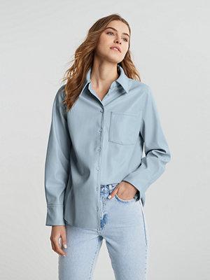 Gina Tricot Alice pu shirt