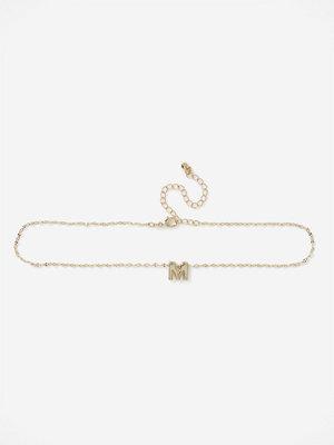 Gina Tricot halsband GOLD MINI M INITIAL DITSY