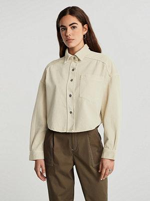 Gina Tricot Cropped denim shirt