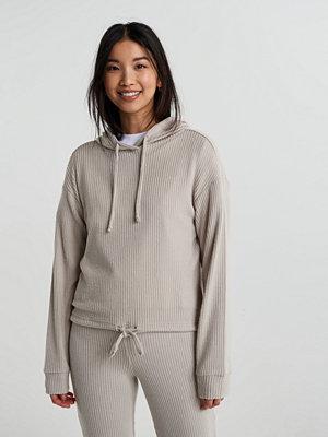 Toppar - Gina Tricot Stina rib hoodie