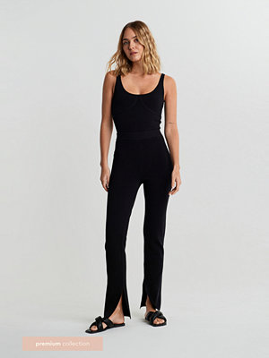 Gina Tricot svarta byxor Leo Premium trousers