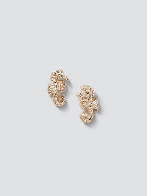 Gina Tricot smycke Gold Seahorse Stud Earrings