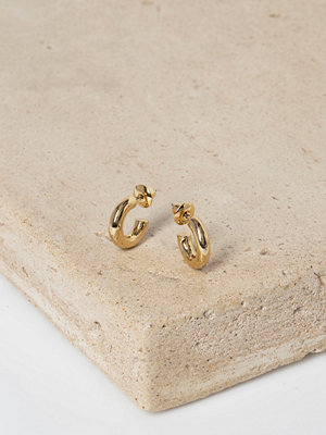 Gina Tricot örhängen Real Gold Plated Mini Hoop Earrings