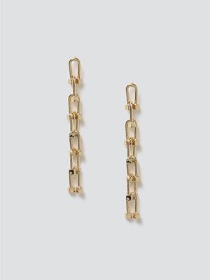 Gina Tricot örhängen Gold Link Drop Earrings