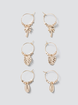 Gina Tricot smycke Gold Palm & Leaf Earring Pack