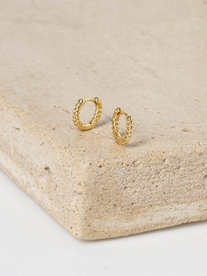 Gina Tricot örhängen Real Gold Plated Twist Hoop Earrings