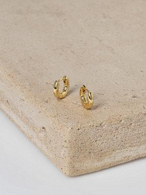 Gina Tricot örhängen Real Gold Plated Hoop Earrings