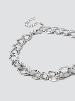 Gina Tricot smycke Silver Textured Link Chain Necklace