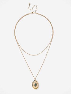 Gina Tricot halsband SUM LOCKET MROW NW G GOLD GOLD