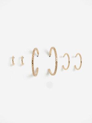 Gina Tricot örhängen Textured Hoop Multipack