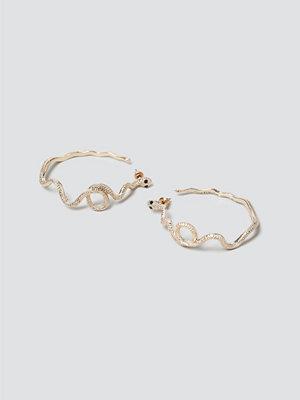 Gina Tricot smycke Gold Snake Hoops