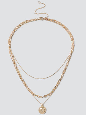 Gina Tricot halsband Gold Layered Coin Necklace