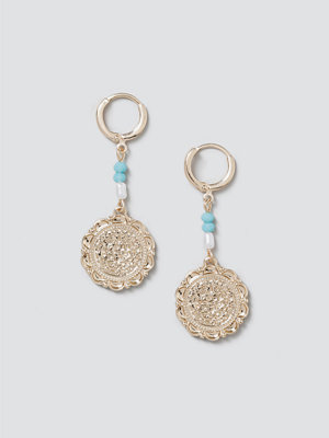 Gina Tricot smycke Gold Coin Drop Earrings