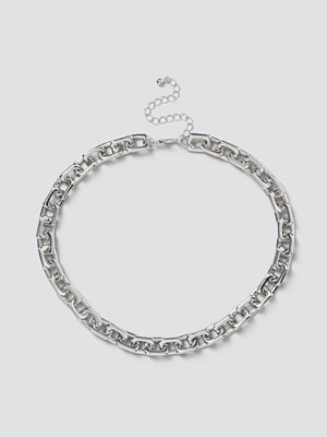 Gina Tricot smycke Silver Square Link Chain Necklace
