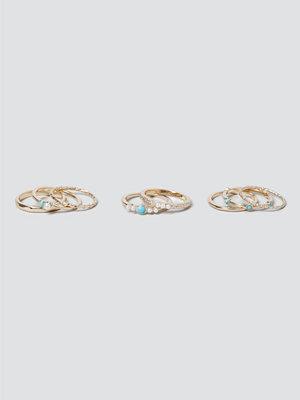 Gina Tricot smycke Turq Pretty Ring Pack