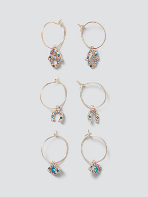 Gina Tricot smycke Gold Charm Hoop Pack