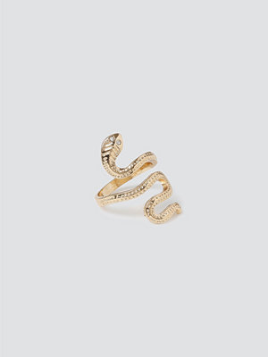 Gina Tricot Gold Snake Twist Ring